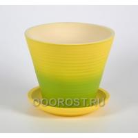 Горшок Цветочный №2 d16см, h15см, v 1,5л (желто-зеленый)