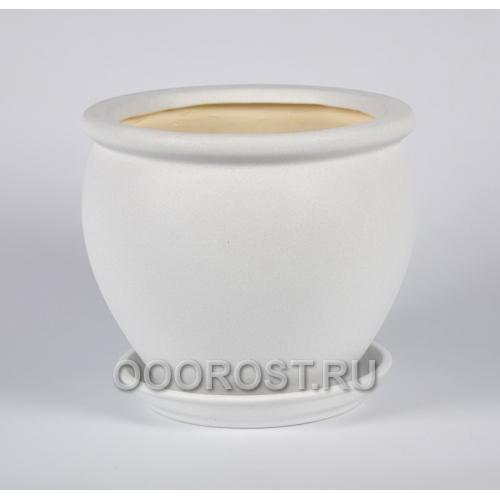 Керамический горшок Вьетнам №3 крошка белая 5л, d24 см