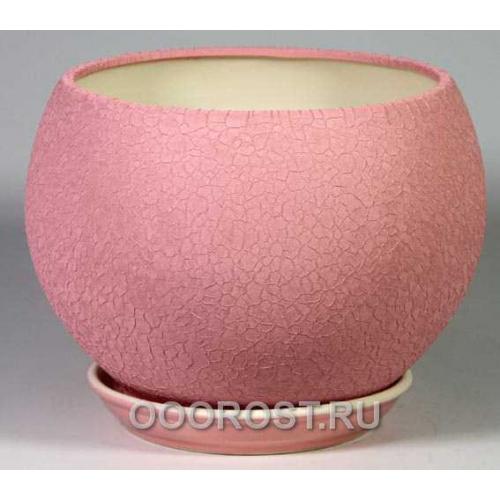 Горшок Шар №1  (шелк розовый)  4,1л  d23см