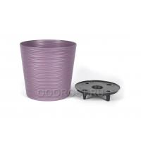 Кашпо Фьюжн низкое d30см, h28.5см, 13л фиолетовый с дренажной вставкой