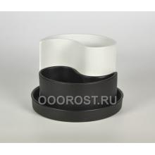 Горшок Капля крошка черно-белый d20см, h 8-15см, 0.7 л, 1.3 л