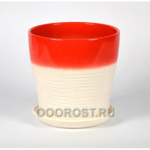 Горшок Мармелад красный тополь №3  d16см, 2л