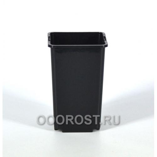 Горшок рассадный квадратный d09, v 0.8л черный