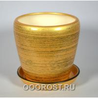 Горшок Грация №3 (глянец зол-черный) 2,3л d17см