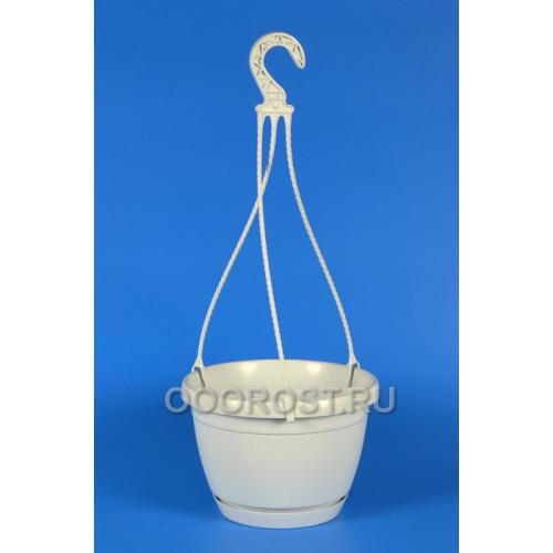 Горшок подвесной Dekor24 d24  v4,5 Белый