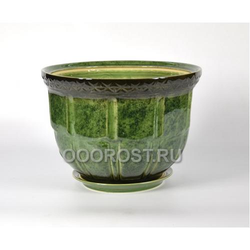 Горшок Атлант №1 (зеленый) 14л, d36см, h24см