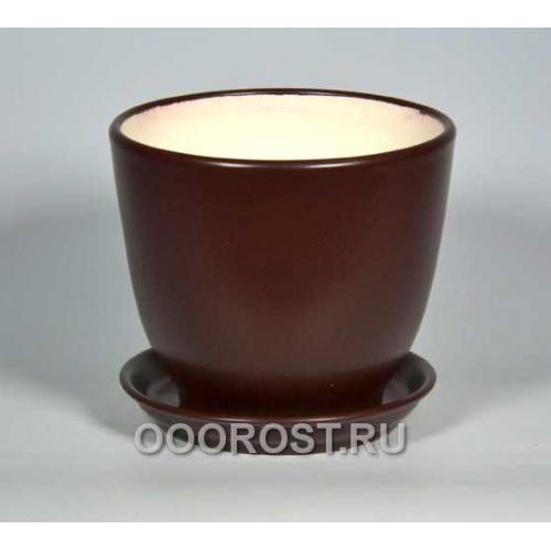 Горшок Кедр №2 (глянец Шоколад) 2,2л