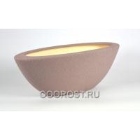 Керамическое кашпо Ладья №1 шелк аметист 9л d 55*21см, h 21см