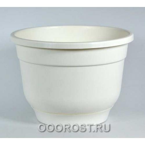 Горшок Флокс d22,5см 4,2л (бел) с под