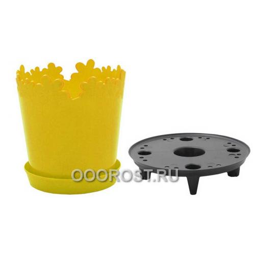 Горшок Лютик d17см h18 v2л желтый