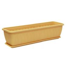 Ящик балконный Алиция 80см с поддоном Белая Глина
