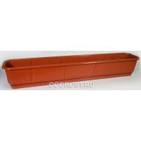 Ящик балконный Дама 100см коричневый