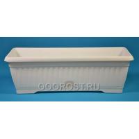 Ящик балконный Терра  80см белый