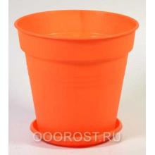 Горшок Глория с поддоном 23,1*22,1 оранжевый