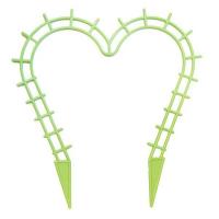 Поддержка для растений Сердечко салатовая выс 29см, шир 28см