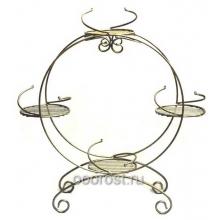Подставка металлическая для цветов Барабан на 4 горшка