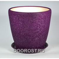 Горшок Грация №1 шелк фиолет 10л, d26см, h26см