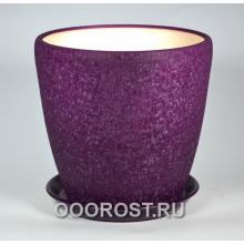 Горшок Грация №1 (шелк фиолет) 10л, d26см, h26см