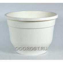 Горшок Флокс 5,5л белый с поддоном
