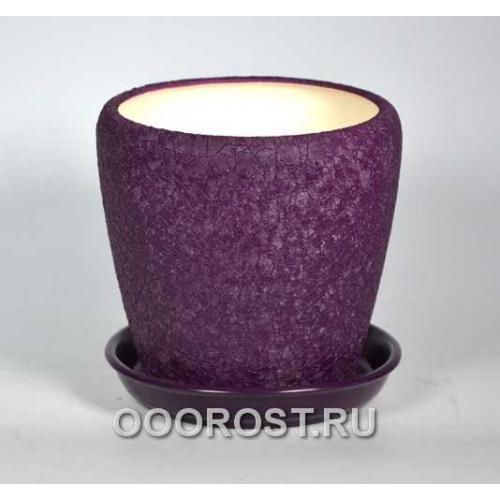 Горшок Грация №3 (шелк фиолет) 2,3л d17см