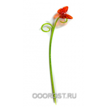 Держатель д/орхидей Бабочка h 39см зелен/оранж