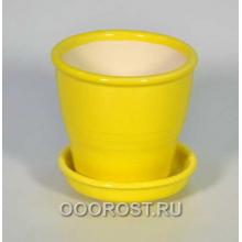 Горшок Ведро №5 желтое 0,23л, d9, h8см