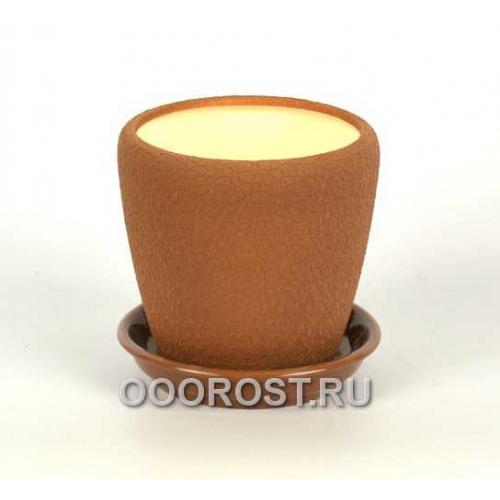 Горшок Грация №4 (шелк молочный шок.) 1,2л d13,5см