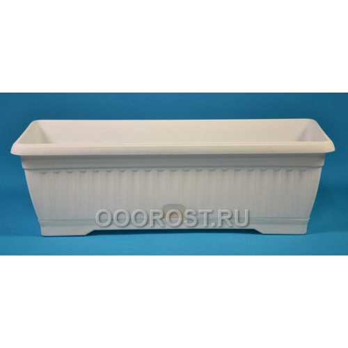 Ящик балконный Терра 100см белый