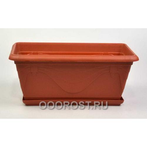 Ящик Петуния 30,2см коричневый