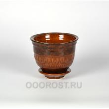 Горшок Астория №4 коричневый 1.3 л