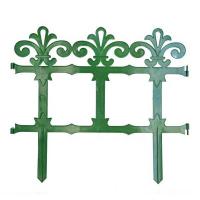 Заборчик Роскошный сад зеленый (дл 2,67м, выс 33,5см, 7секций)