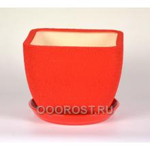 Горшок Ноктюрн №2 (шелк красный)  4,8л  d22см