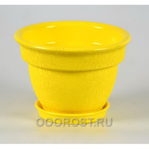 Горшок Колокол 1,2л кожа желтый d18см, h12см