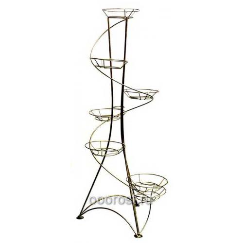 Подставка для цветов металлическая Спираль на 7 горшков