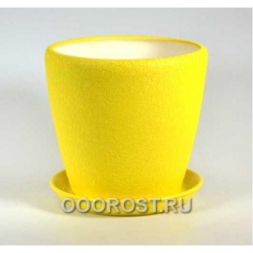 Горшок Грация №1 (шелк желтый) 10л, d26см, h26см