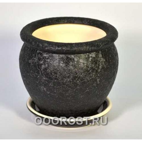 Горшок Вьетнам №4 (шелк черный) 1,5л, d17см