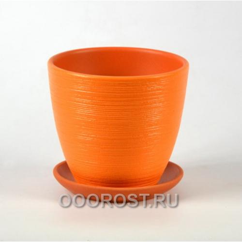 Горшок для цветов ФЛЕР оранжевый крокус №1  d12см, 0,7л