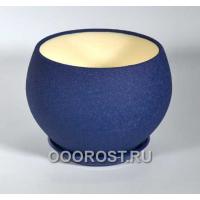 Горшок Шар №1  (шелк синий)  4,1л  d23см