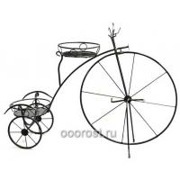 Подставка цветочная из металла Велосипед на 2 горшка