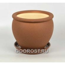 Горшок Вьетнам №3 (Шелк молочный шоколад), 5л, d24см
