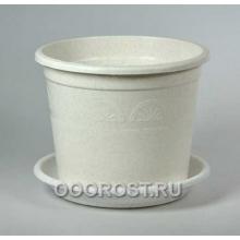 Горшок Астра 1,6л мраморный с поддоном