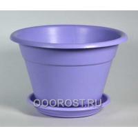 Горшок Конус 1.7л фиолетовый с поддоном
