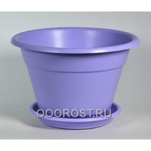 Горшок Конус 1,7л фиолетовый с поддоном