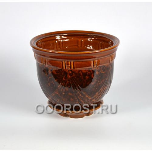 Горшок Мирида №2 (коричневый) 5л, d25см, h20см