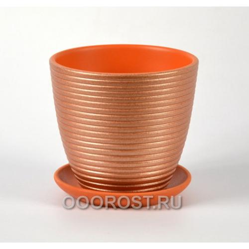 Горшок для цветов Бриз какао крокус №4  d21см, 4,2л