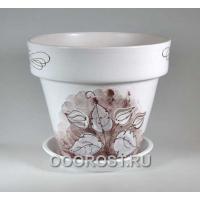 Керамический горшок Пролесок коричневый 13л, d33см, h29см