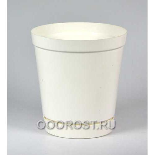 Горшок Глэдис 1,2л белый с поддоном