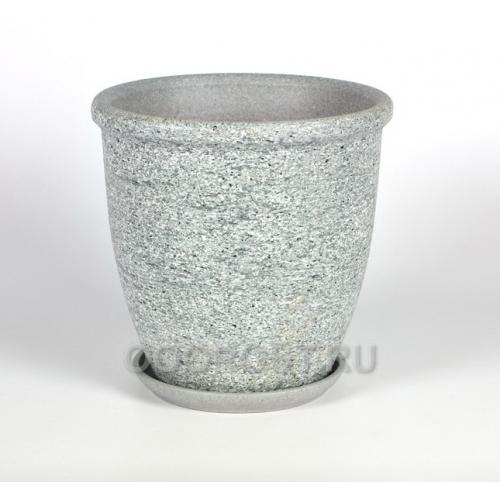 Горшок Серый камень №3 Готика шнур (d15см, h15см, v 1,7л)
