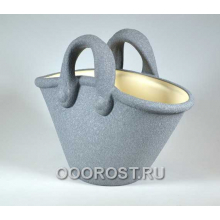 Кашпо Корзинка (шелк металлик), 4л, h28см, L34см