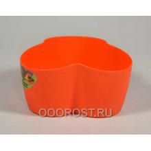 Кашпо кактусник на 3 места оранжевый